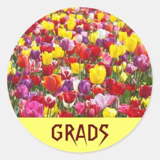 GRADS stickers Tulip Flowers Graduation Invitation
