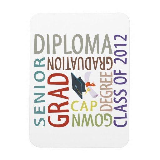 Graduación 2012 imanes rectangulares