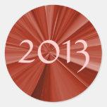 Graduación 2013 pegatina redonda