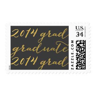 Graduación 2014 del gris del oro franqueo