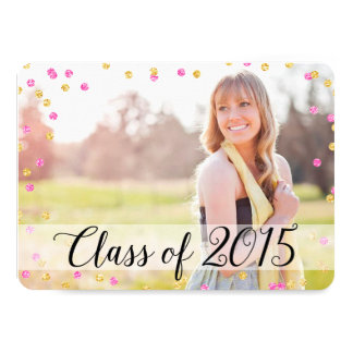 Graduación 2015 de la foto del rosa del oro del