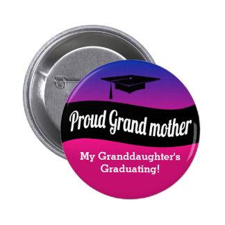 Graduación - abuela orgullosa chapa redonda 5 cm