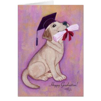 Graduación amarilla de Labrador Tarjeta
