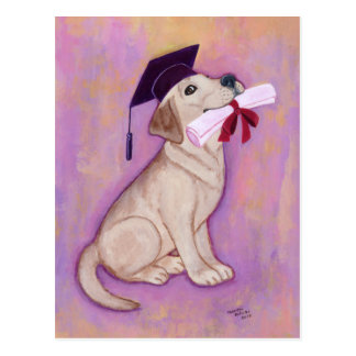Graduación amarilla de Labrador Postal