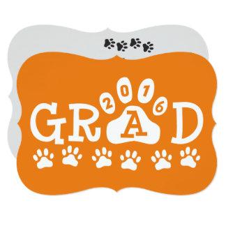 """Graduación anaranjada de las patas de las invitación 5"""" x 7"""""""