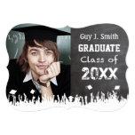Graduación apenada vintage del Grunge del estilo Invitación 12,7 X 17,8 Cm