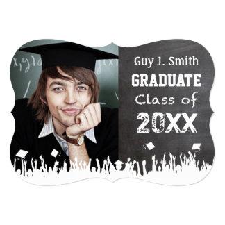 """Graduación apenada vintage del Grunge del estilo Invitación 5"""" X 7"""""""