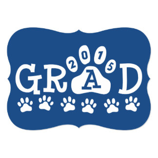 Graduación azul de las patas de las invitaciones invitación 12,7 x 17,8 cm