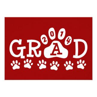 Graduación blanca roja de las patas de las invitac