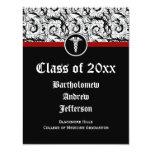Graduación blanco y negro de la Facultad de Invitación Personalizada