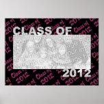 Graduación - clase de 2012 - rosa y negro poster