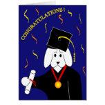 Graduación con el poema tarjetas