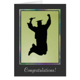 Graduación - Congrats masculino en la realización Tarjeta De Felicitación