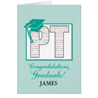 Graduación conocida de encargo Congratul de la Tarjeta De Felicitación