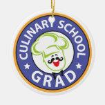 Graduación culinaria de la escuela ornamento para arbol de navidad