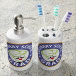 Graduación culinaria de la escuela vasos para cepillos de dientes