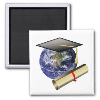 Graduación de calidad mundial - casquillo y imanes de nevera