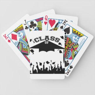 Graduación de encargo baraja cartas de poker