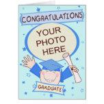 Graduación de encargo del preescolar/del muchacho  tarjetón