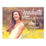 Graduación de encargo elegante de la foto tarjetas postales