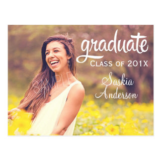 Graduación de encargo elegante de la foto tarjeta postal