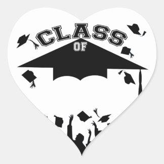Graduación de encargo pegatina en forma de corazón
