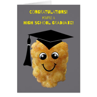 Graduación de estudios secundarios divertida tarjeta de felicitación