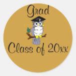 Graduación de la enhorabuena pegatina redonda
