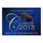 Graduación de la escritura de 2013 azules invitación 12,7 x 17,8 cm