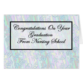 Graduación de la escuela de enfermería de la enhor tarjeta de felicitación