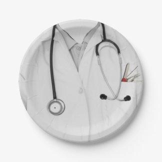graduación de la Facultad de Medicina Plato De Papel De 7 Pulgadas