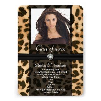 Graduación de la foto de la cinta del leopardo anuncios personalizados