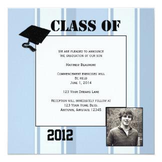 Graduación de la foto del casquillo de la invitación 13,3 cm x 13,3cm