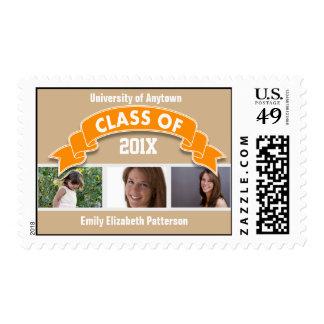 Graduación de la foto sellos postales