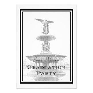 Graduación de la fuente DIY de Bethesda del Centra Invitaciones Personales