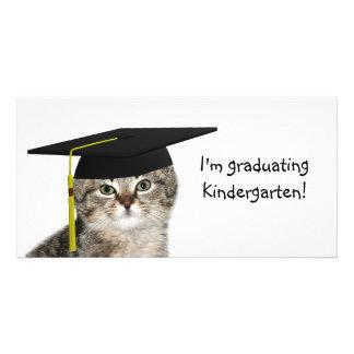 Graduación de la guardería tarjetas personales con fotos