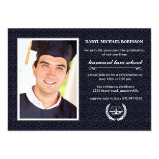 """Graduación de la púrpura del colegio de abogados invitación 5"""" x 7"""""""