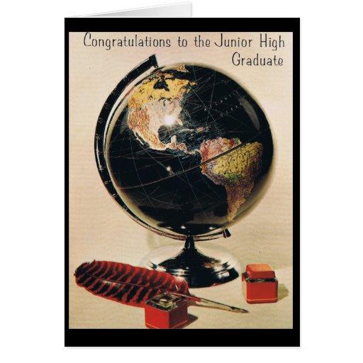 Graduación de la secundaria tarjeta de felicitación