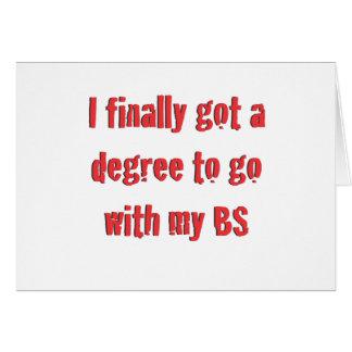 Graduación de la universidad tarjeta de felicitación