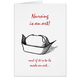 Graduación de las enfermeras tarjeta de felicitación