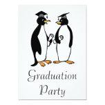 Graduación de los pingüinos invitación personalizada