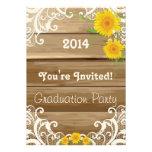 Graduación de madera del cordón del vintage de los invitaciones personalizada