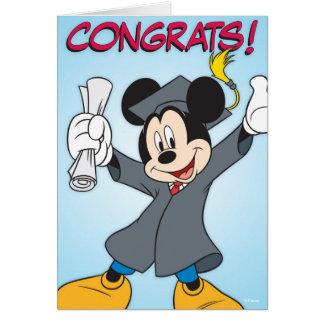 Graduación de Mickey Tarjeta De Felicitación