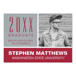 """Graduación de Washington State University Invitación 5"""" X 7"""""""