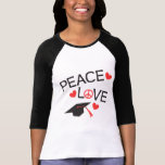 Graduación del amor de la paz camisetas