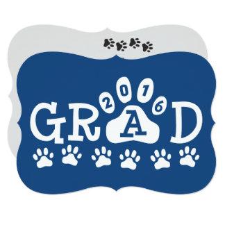 """Graduación del azul de las patas de las invitación 5"""" x 7"""""""