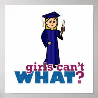 Graduación del chica póster