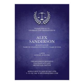 Graduación del colegio de abogados con la guirnald comunicados personalizados