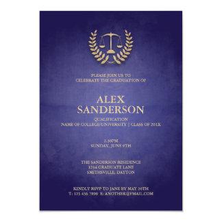 Graduación del colegio de abogados con la comunicados personalizados