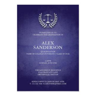 """Graduación del colegio de abogados con la invitación 5"""" x 7"""""""